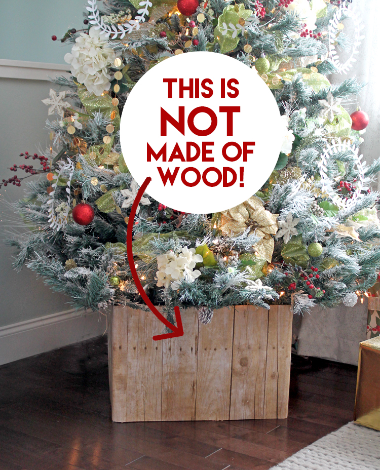 Diy Faux Barn Wood Christmas Tree Stand Thecraftpatchblog Com
