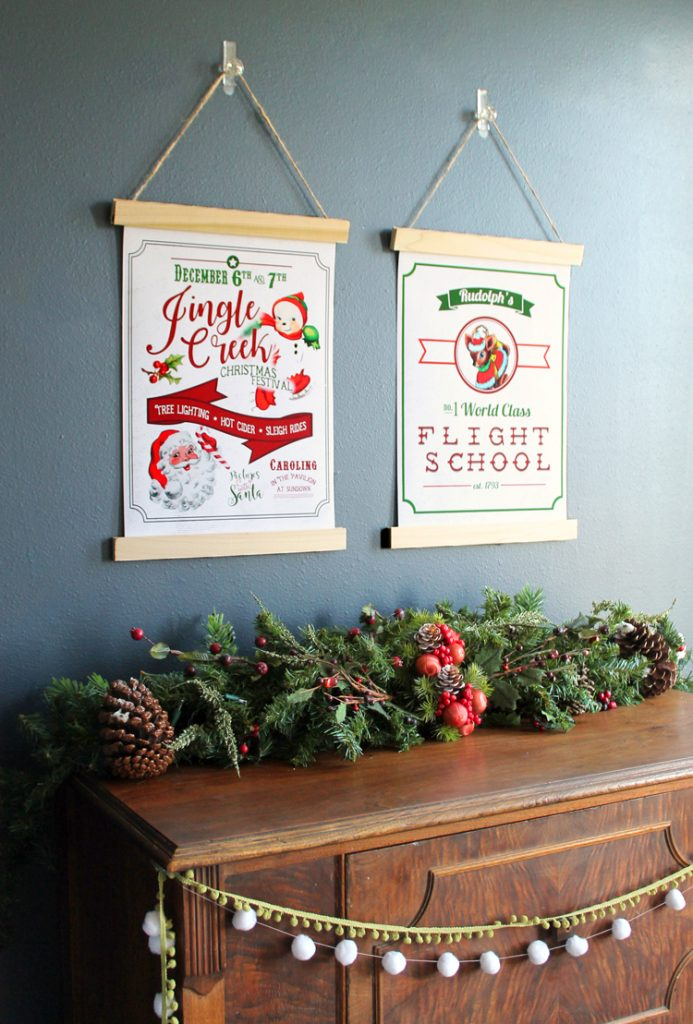 Free Printable Vintage-Style Christmas Posters - thecraftpatchblog.com