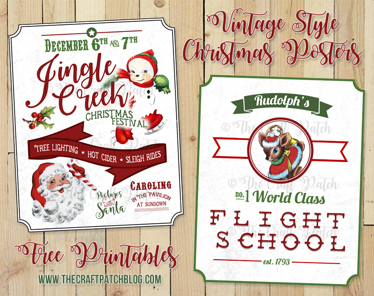 picture about Free Printable Vintage Images named Absolutely free Printable Typical-Structure Xmas Posters