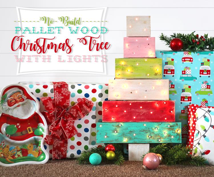 No Build Pallet Wood Christmas Tree Thecraftpatchblog Com