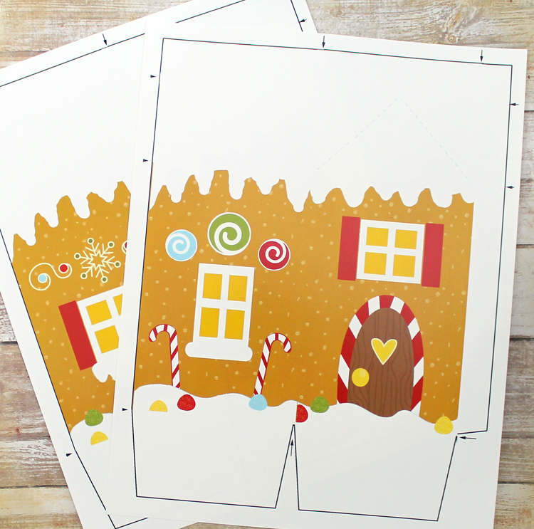 photograph about Printable Gingerbread House referred to as Gingerbread Dwelling Deal with Box Totally free Printable and Minimize Document