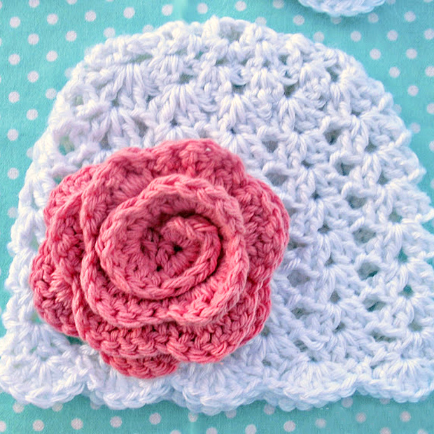 Lacy Beanie For Babies