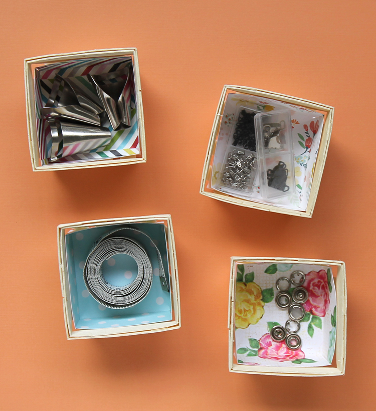 DIY Mini Craft Room Storage Boxes