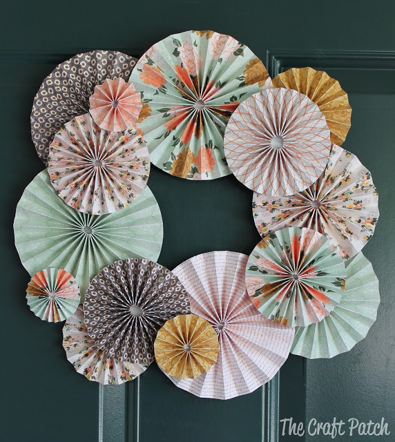 paper medallion spring wreath