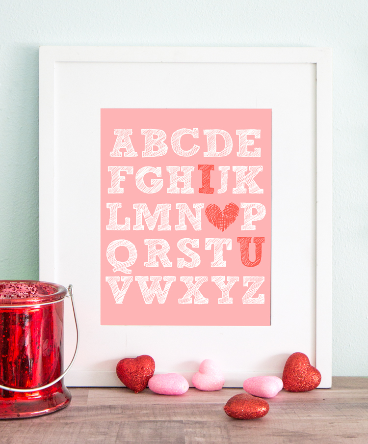 Free Printable Valentine S Day I Heart U Art The Craft Patch