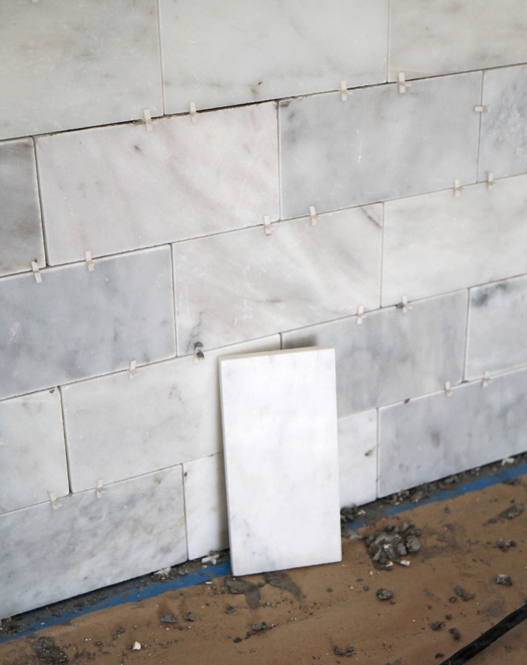 marble tile discoloration when wet