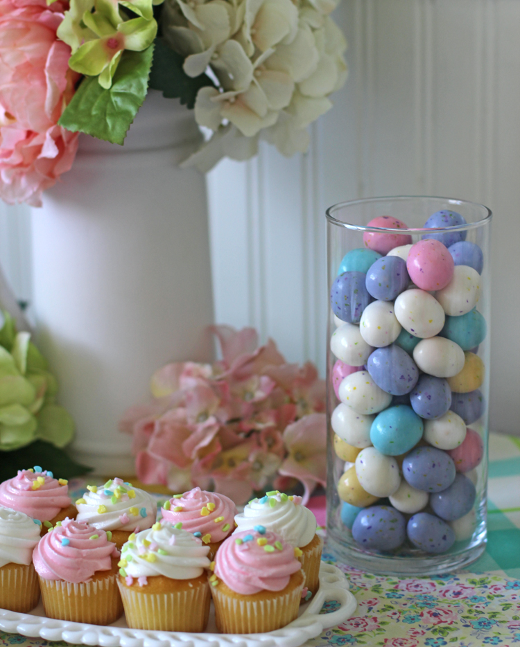 Colorful dessert table for Spring