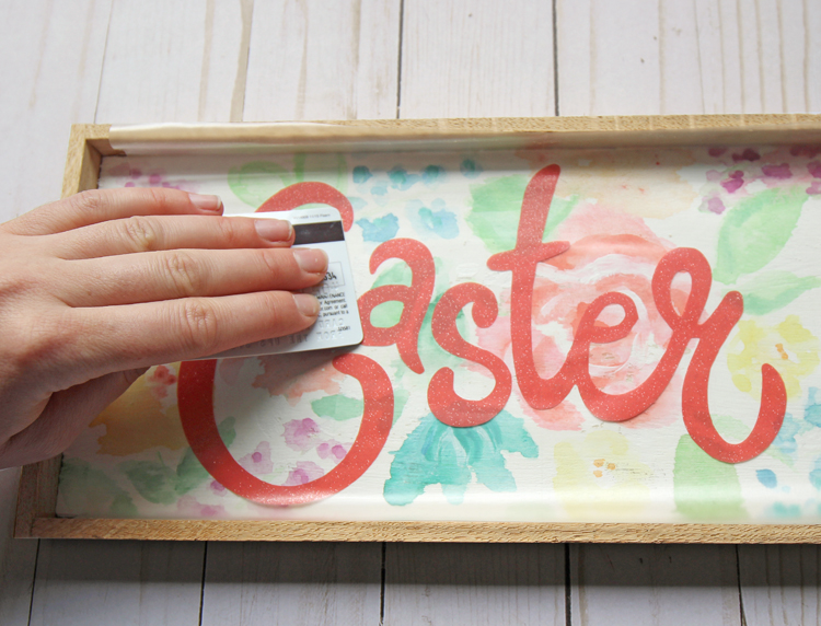 Diy Watercolor Floral Wooden Easter Sign