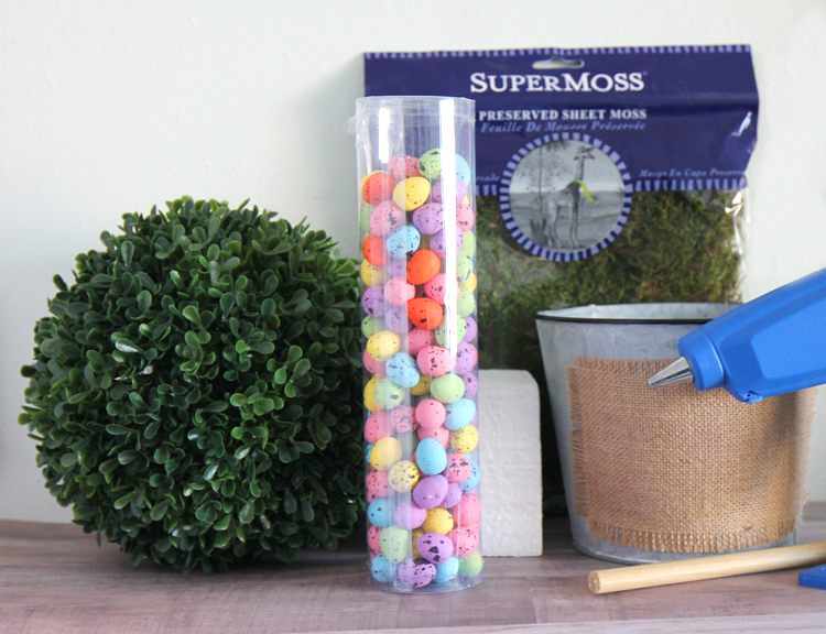 Spring Easter Egg Boxwood Topiary