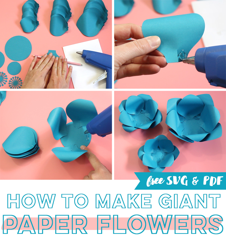 instructions to make giant paper flowers