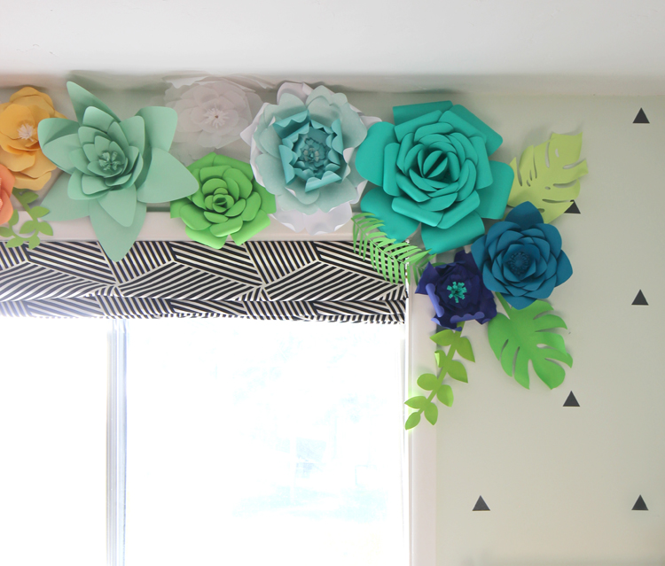 Paper Flower Wall Hanging - DIY Hanging Flower - Wall Decoration ... | 639x750