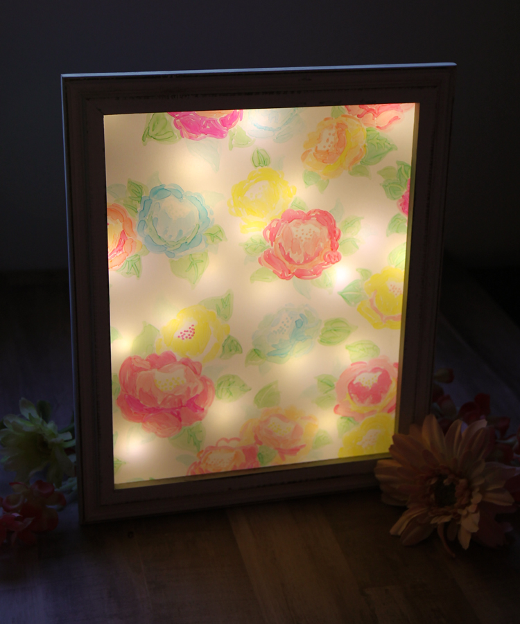 Non-traditional nightlight with a floral design