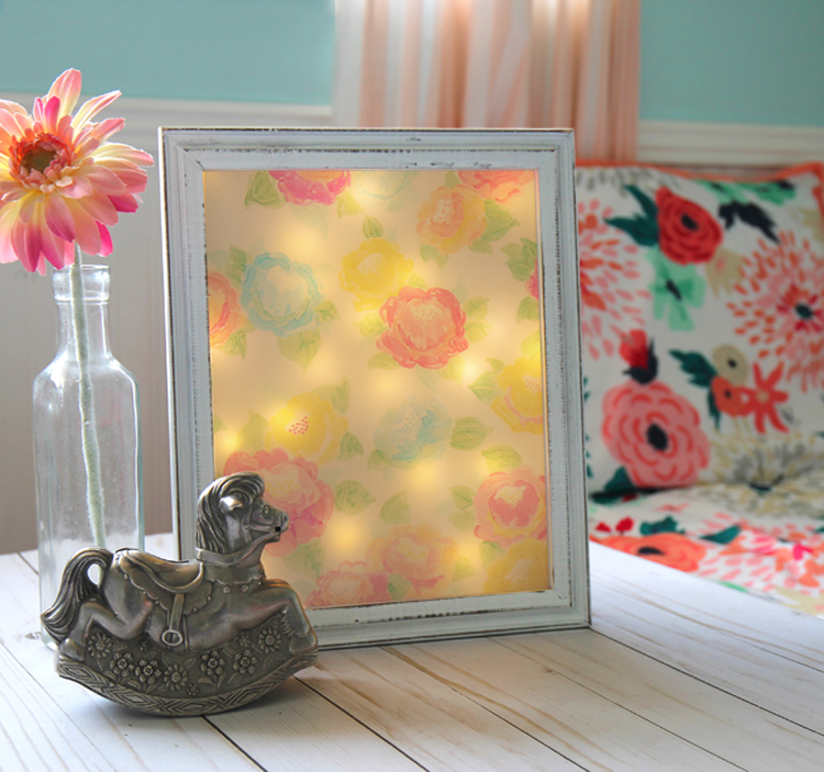 Floral night light DIY