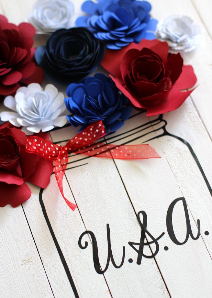 Rolled Paper Flower Craft Idea