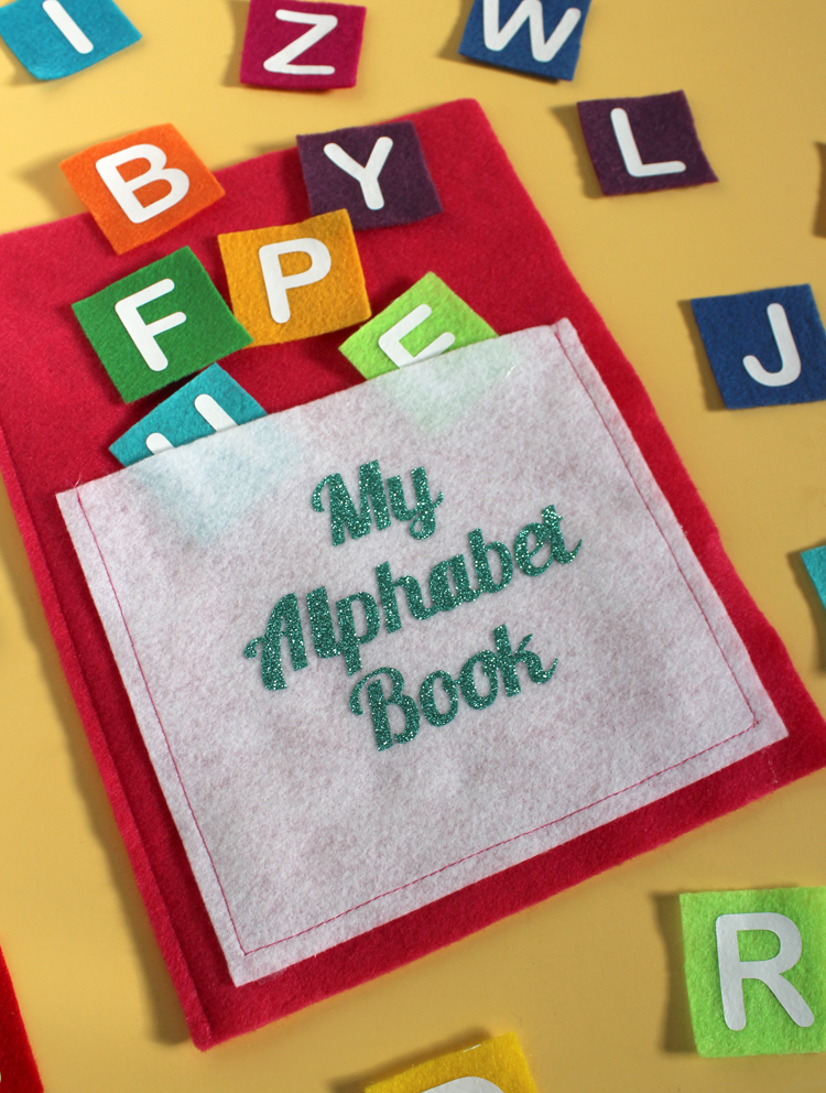 Alphabet matching game made from felt