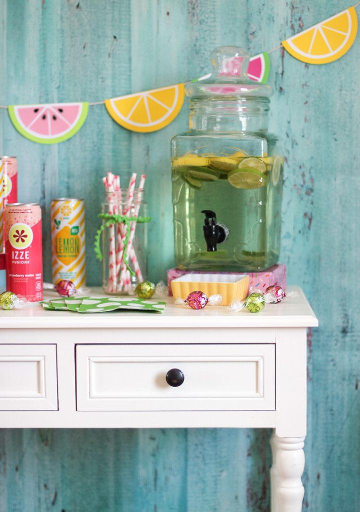 Watermelon and lemonade themed party decor ideas