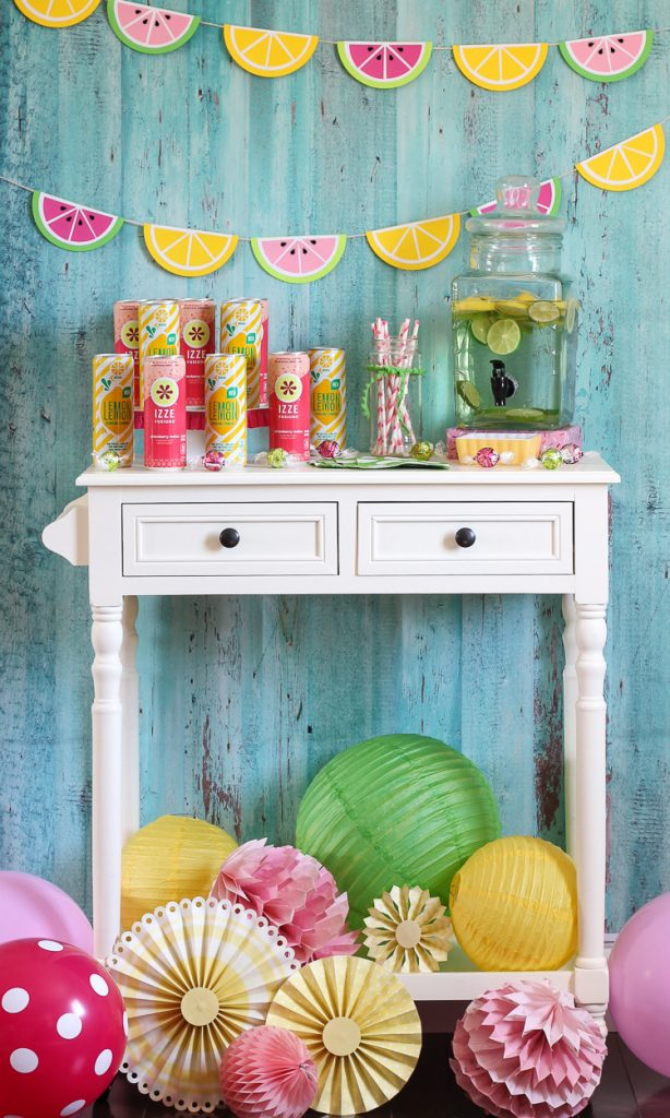 Watermelon and Lemonade Summer Drink Station - thecraftpatchblog com