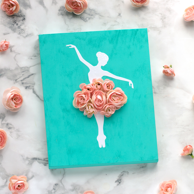 This whimsical ballerina wall art is an easy and affordable craft you can make to decorate a little girls room.