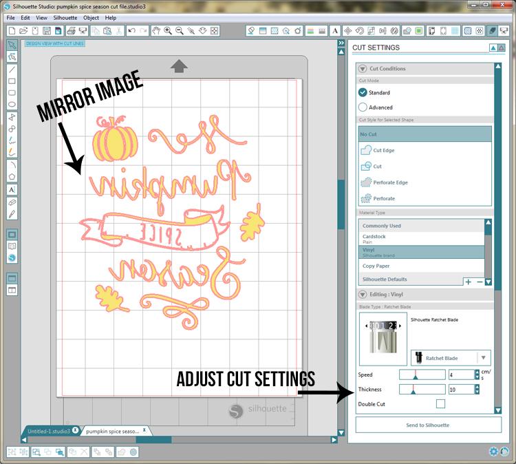 Expressions Vinyl Glitter HTV cut settings and a fun project idea