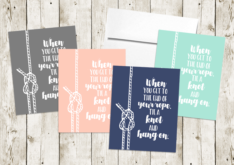 Hand lettered quote for cards or wall art