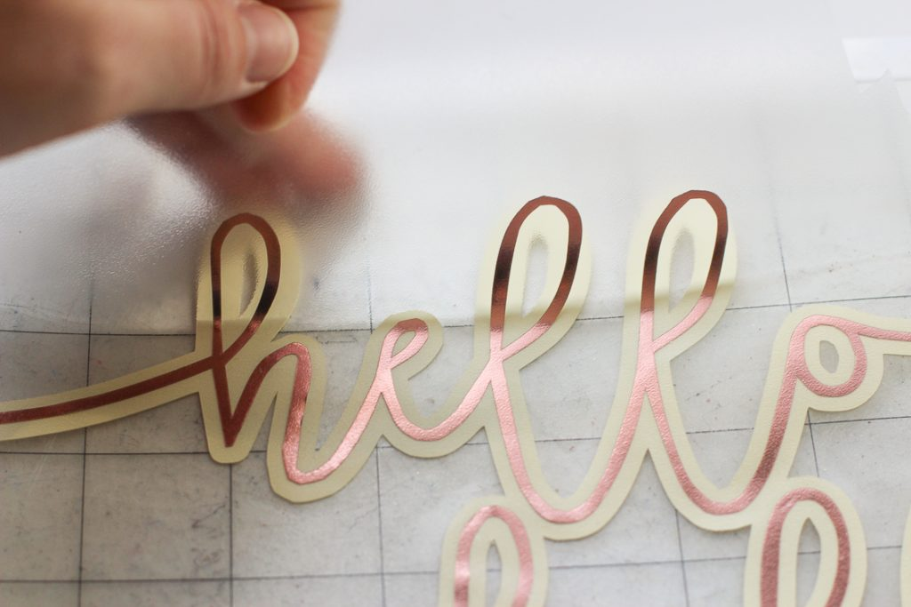 Silhouette's New Rose Gold craft vinyl project idea