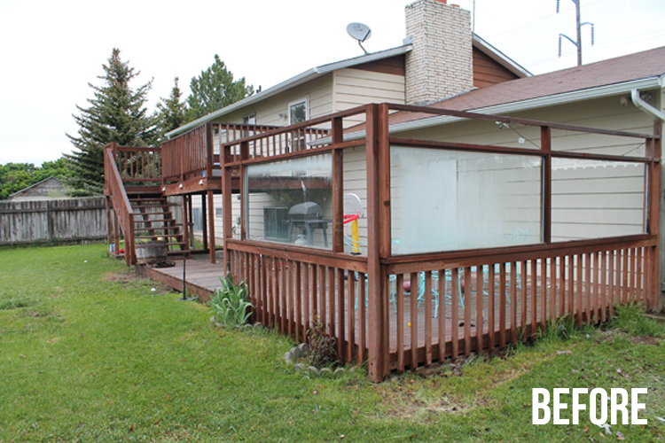 two story wood deck
