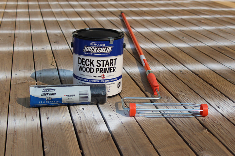 How to prime a deck for paint