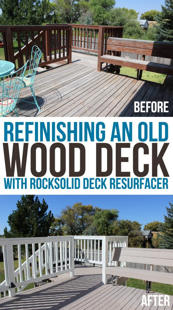 Makeover With Rocksolid Deck Resurfacer