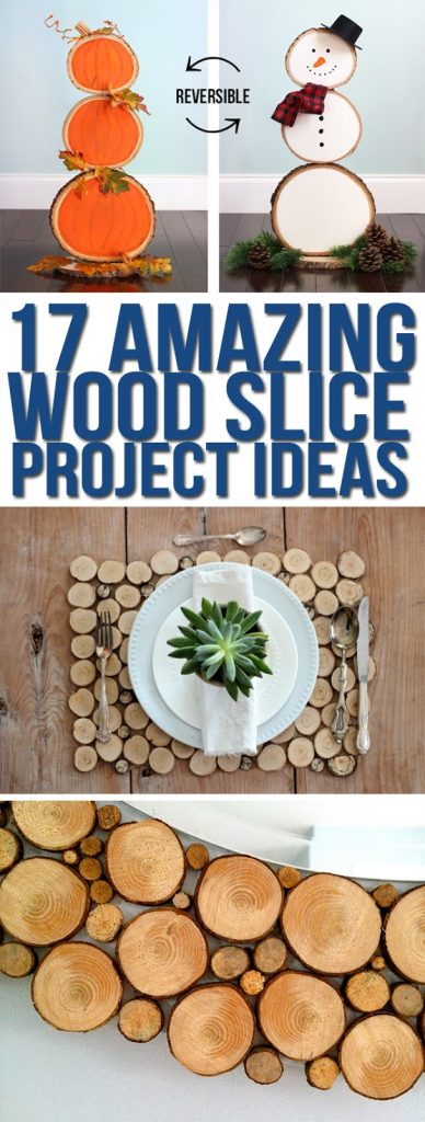 Cute wood slice project ideas. Wood slice craft ideas. Wood round projects