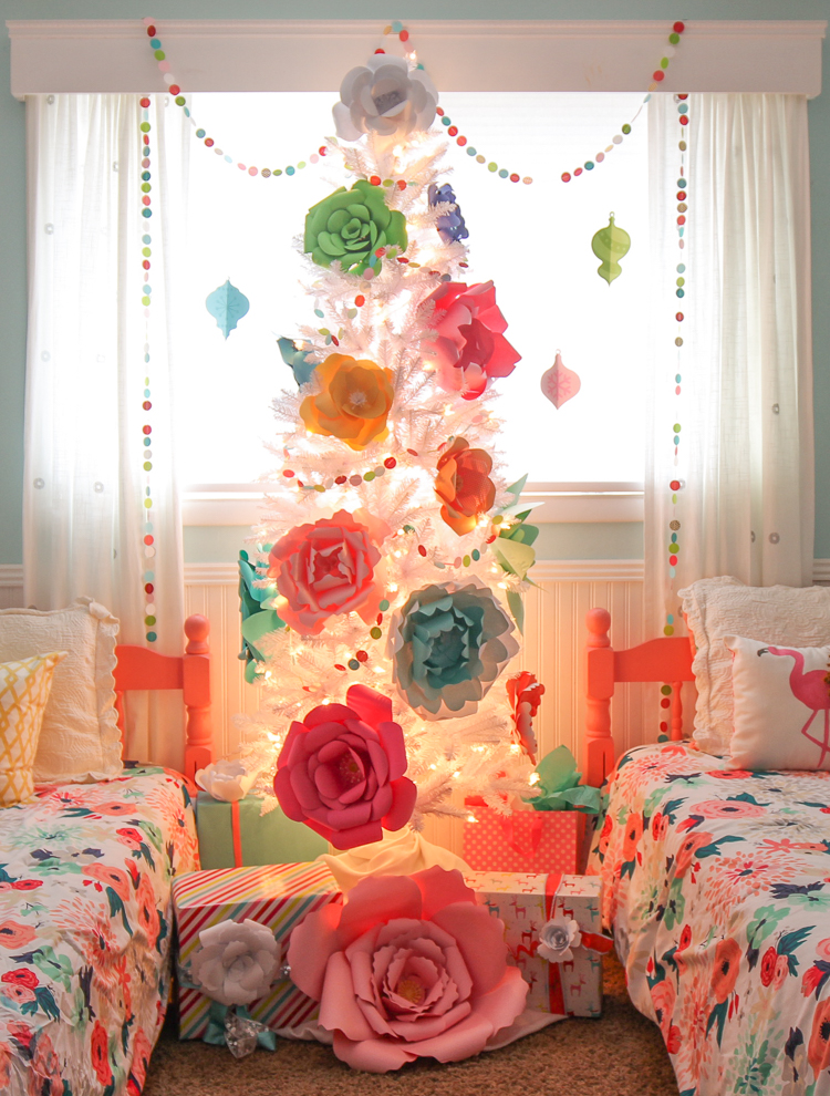 DIY Paper Flower Christmas Tree