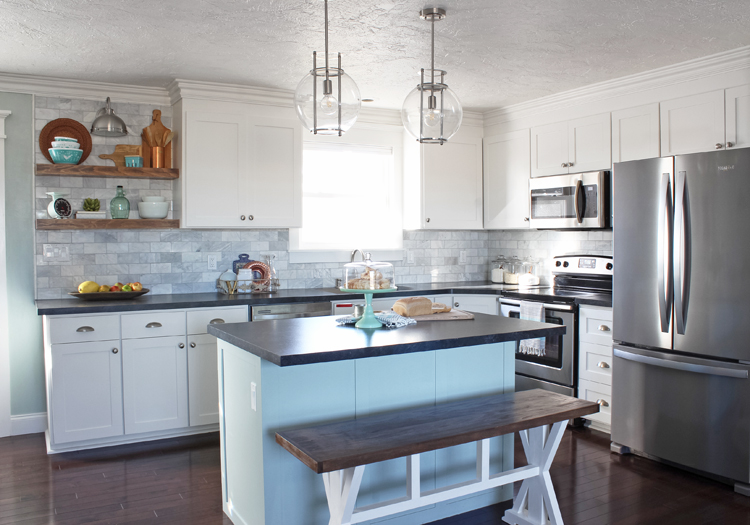 White Kitchen Remodel - thecraftpatchblog.com