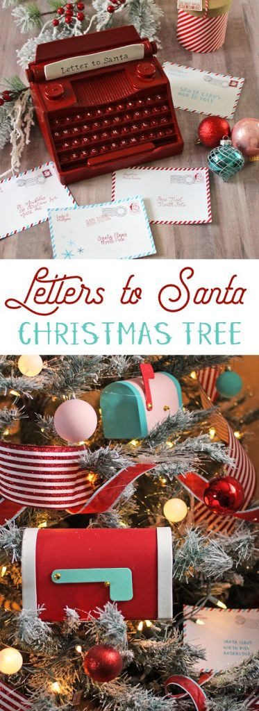 Decorate a whimsical, magical Christmas tree this holiday season with this Letters to Santa themed tree. #christmastree #christmasdecor #christmas