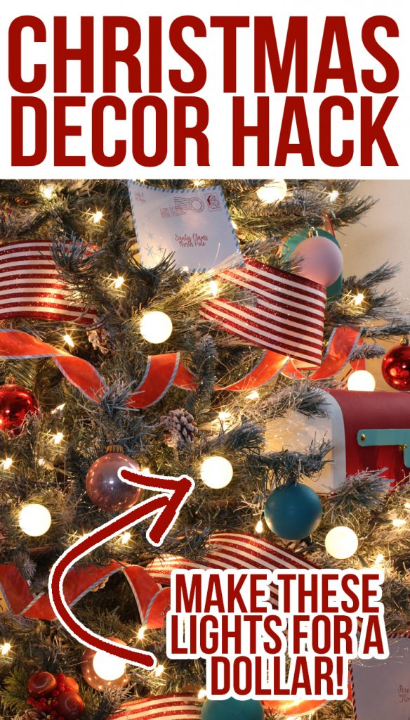this christmas hack is so cool how to make these amazing globe lights tags christmas christmastree - Dollar Store Christmas Tree