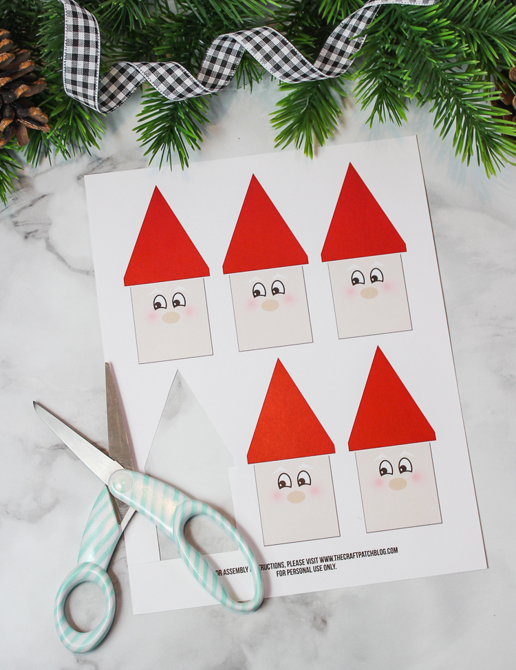 Popsicle Stick Santa Christmas Craft For Kids Thecraftpatchblog Com