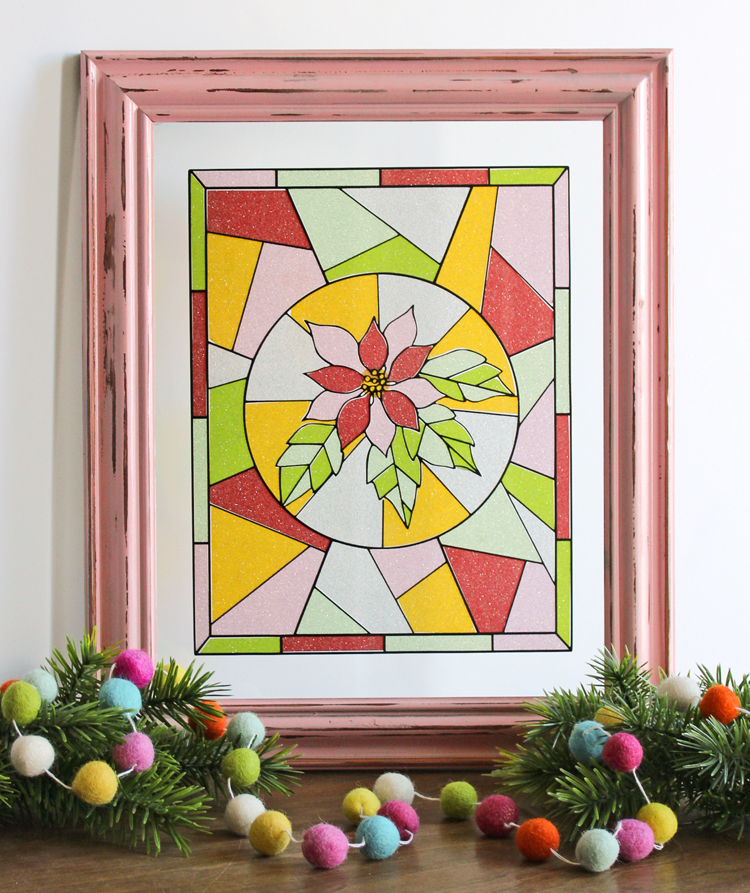 Turn a glass picture frame into a stained glass art!