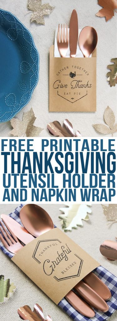 Make these easy utensil pouches to use as Thanksgiving decorations at your table this year. Fun and easy Thanksgiving crafts.