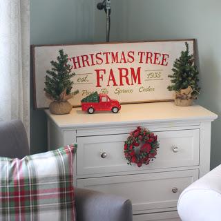 Farmhouse Christmas Wood Sign