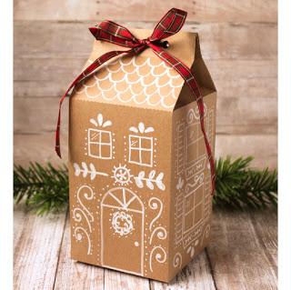 Free Printable and Free Cut File Christmas Treat Box