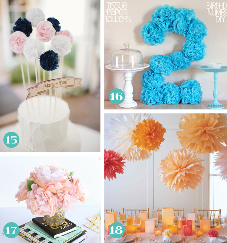 Tissue paper flowers the ultimate guide thecraftpatchblog tissue paper flower party decorations mightylinksfo