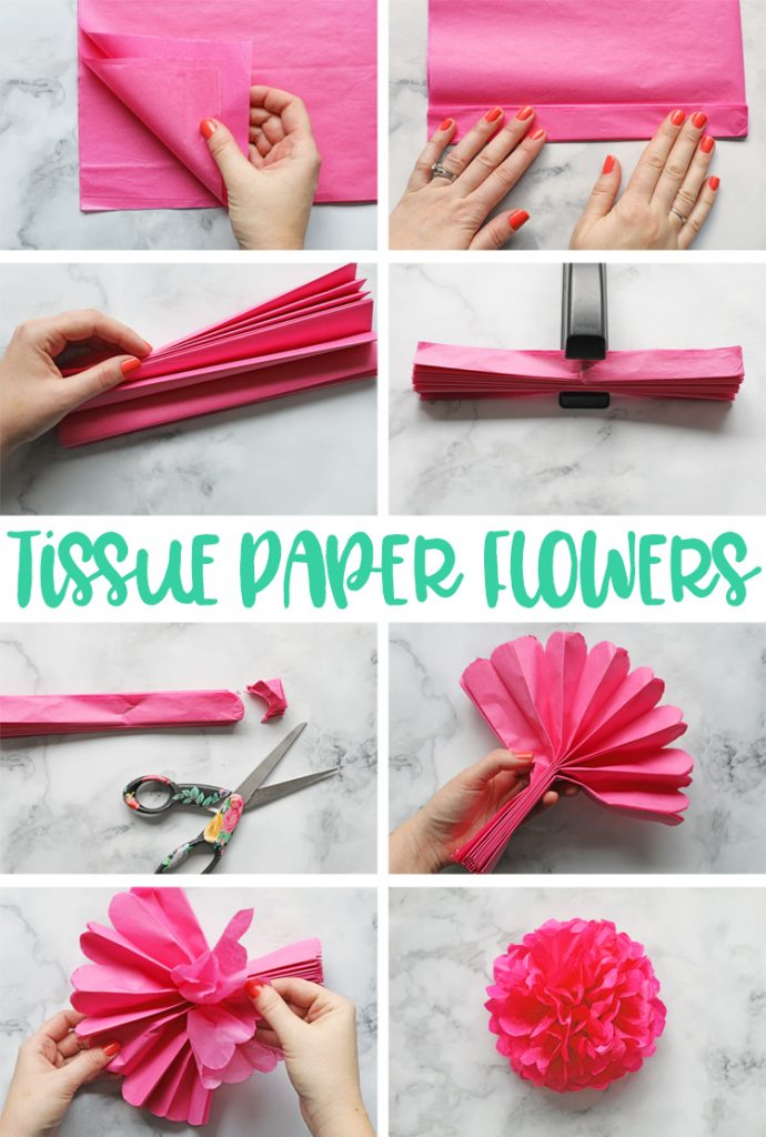 How To Make Flower Decorations Out Of Tissue Paper Titaniso