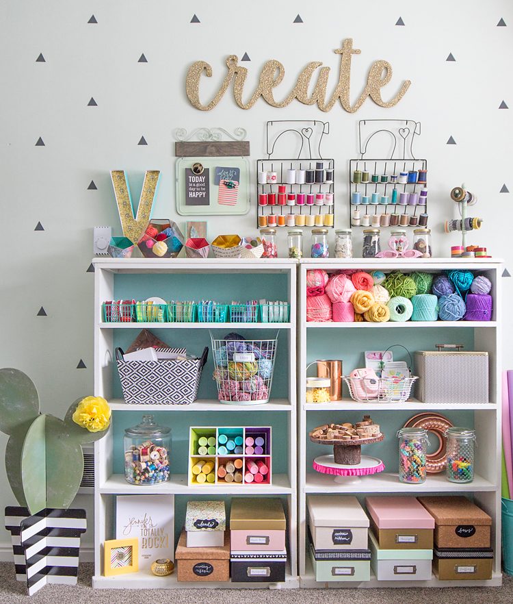 Colorful craft room tour for Diy organization crafts