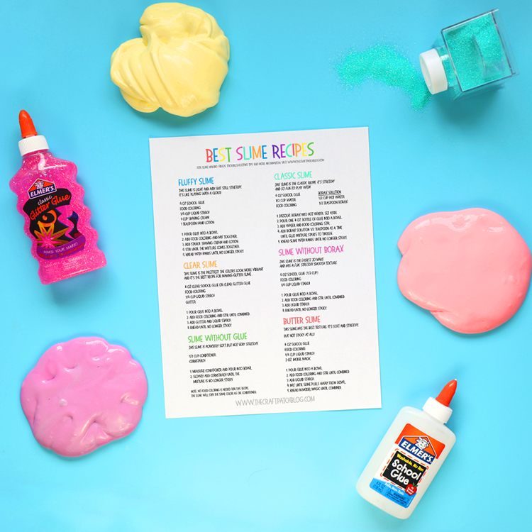 printable slime recipes