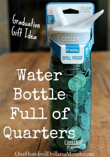 water bottle graduation gift idea