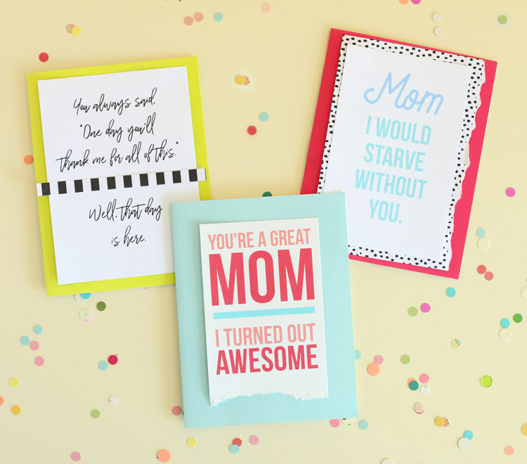 picture relating to Printable Mothers Day Pictures identified as Humorous Printable Moms Working day Playing cards -