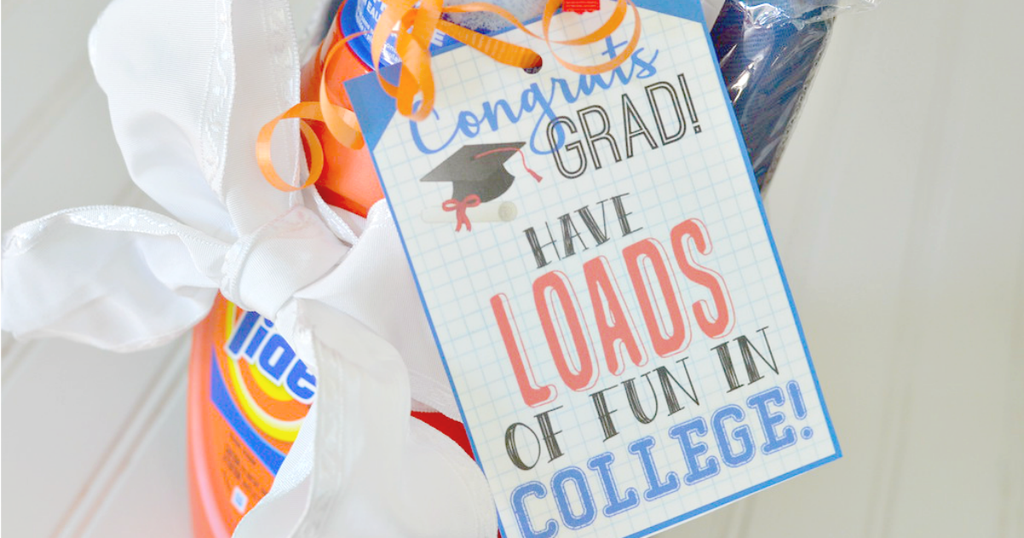 laundry graduation gift idea