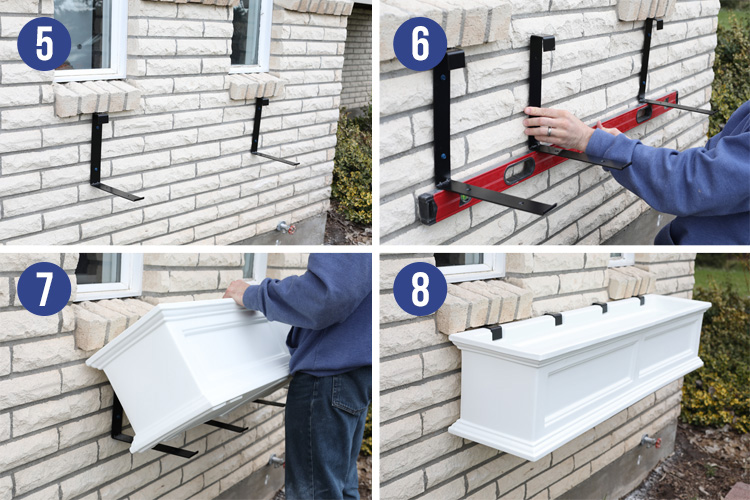 window box mount installation