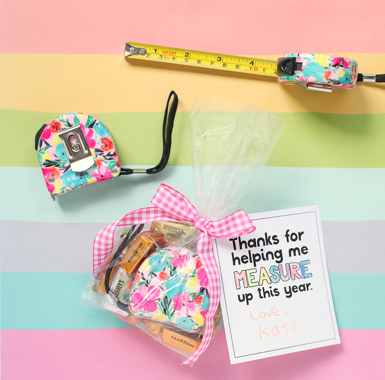 Teacher Appreciation Gifts Floral Measuring Tape