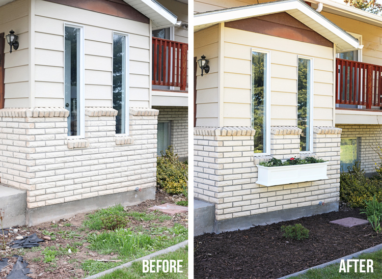 window box before and after