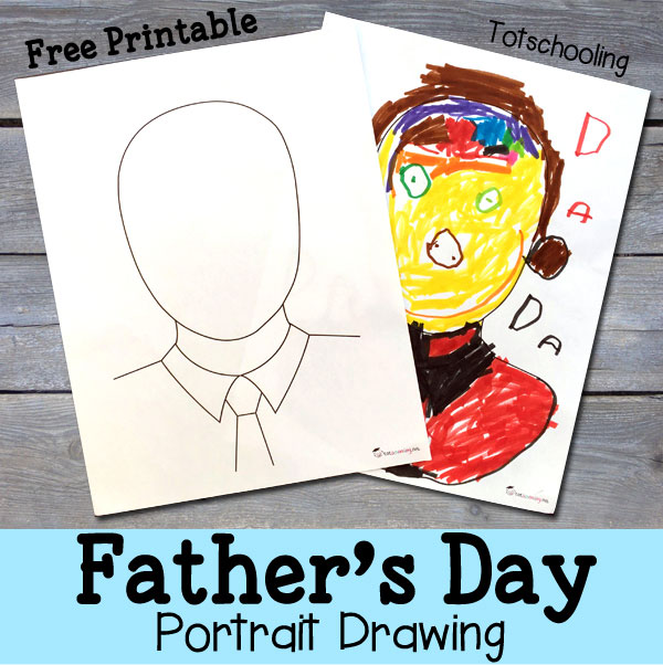 father's day portrait for kids to draw