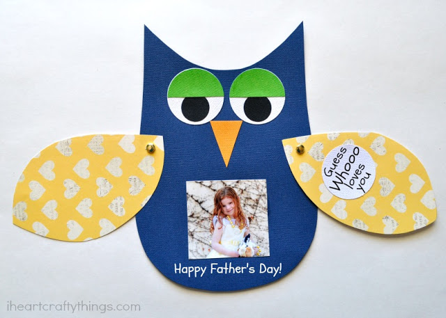owl DIY fathers day card